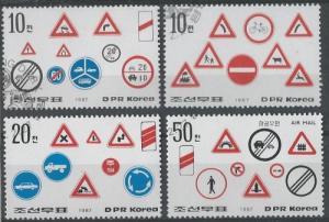 North Korea (DPR) 2638-41 (used cto) traffic signs