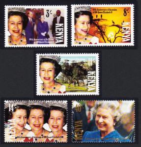 Kenya 40th Anniversary of Queen Elizabeth II's Accession 5v SG#565-569