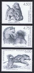Greenland Sledge Dogs 3v 2003 MNH SG#422-424