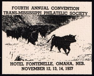 US STAMP 1937  TRANS MISSISSIPPI PHILATELIC SOCIETY Convention stamp