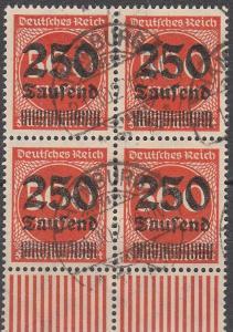 Germany #260 F-VF Block Of 4  CV $76.00