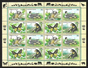 Doyle's_Stamps: 1998 U.N. Endangered Species Sheet Set