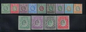 SOMALILAND PROTECTORATE SCOTT #27-39 1904 EDWARD VII WMK 2/WMK 3-  MINT LH
