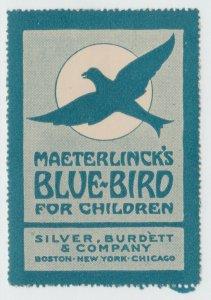 USA Cinderella poster stamp 8-29-21 - no gum - Children's Blue Bird- Books