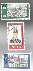 Germany DDR  Weimar Millennium set (3)  1975