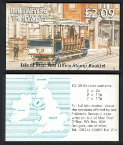 Isle of Man Douglas Cable Tramway Booklet SG#SB22