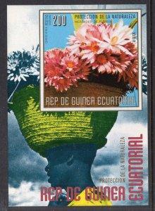 Equatorial Guinea Australian Flowers Souvenir Sheet MNH VF