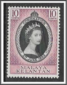 Malaya-Kelantan #71 Coronation Issue MH