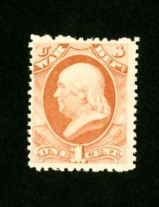US Stamps # O83 FVF OG NH Scott Value $525.00