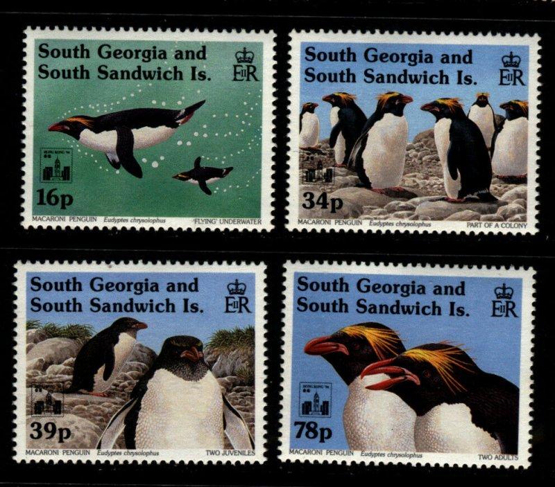 South Georgia 1994 Macaroni Penquins Set 4 Stamps Scott 174-7 MNH