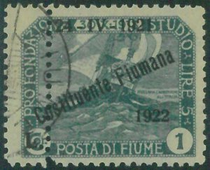 87859  - ITALIA: FIUME  - VARIETA'  Error - Sassone 186x USATO - USED