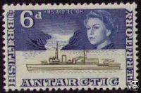 BRITISH ANTARCTIC TERRITORY Sc# 8 MNH FVF Ship Boat