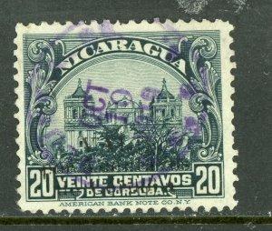 Nicaragua 1914 Cathedral 20¢ Slate VFU  O396