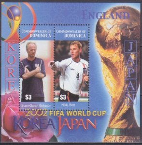 2003 Dominica 3434-35/B478 2002 FIFA World Cup in Japan and Korea