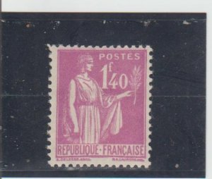France  Scott#  281  MH  (1939 Peace with Olive Branch)