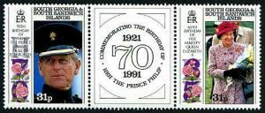 HERRICKSTAMP SOUTH GEORGIA Sc.# 150A Royal Birthday