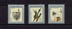 ALBANIA - 1977 SKANDERBEG'S WEAPONS - SCOTT 1774 TO 1776 - MNH