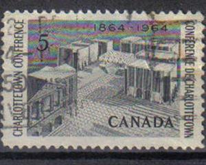 CANADA, 1964 used 5c, Centenary of Charlottetown Conference.