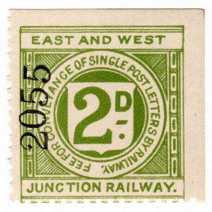 (I.B) East & West Junction Railway : Letter Stamp 2d