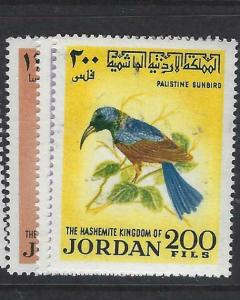 JORDAN  (PP1304B)  BIRDS  SG 929-31   MNH