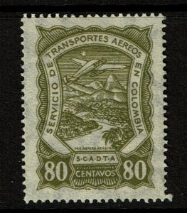 Colombia SC# C46, Mint Hinged, Hinge Remant, with pieces of mount - S10297