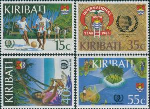 Kiribati 1985 SG241-244 Youth Year set MNH