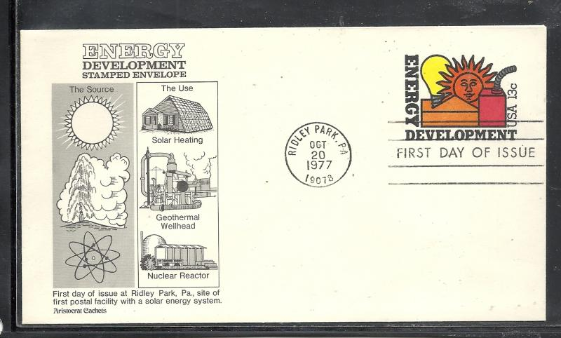 US #1724 Energy Conservation Aristocrats cachet unaddressed fdc