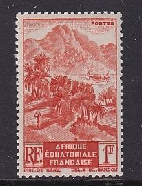 French Equatorial Africa   #172  MNH 1946 mountenous shore 1fr