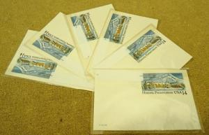 Historic Preservation USA 14c Stamp Postcards 6qty