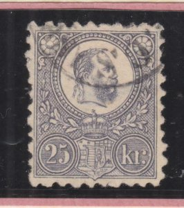 HUNGARY, 1871 Engraved, 25k. Dull Lilac, used.