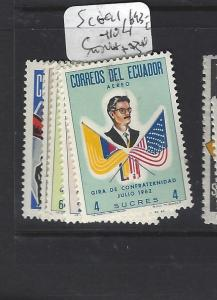 ECUADOR  (PP0209B)   SC  691, 693-6, C410  MNH