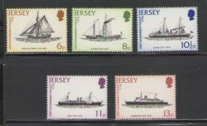 Jersey Sc 197-1 1978 mail ships stamps  NH