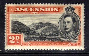Ascension Island 1938 - 53 KGV1 2d Orange & Black MM SG 41 ( R639 )