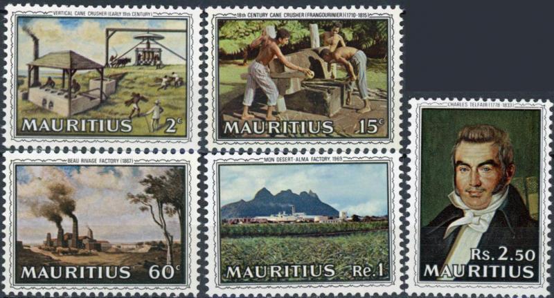 Mauritius MNH 363-7 Sugar Industry 1969