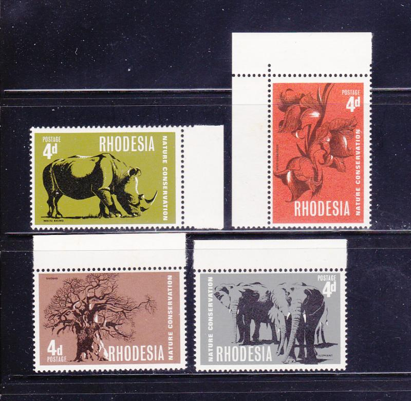 Rhodesia 254-257 Set MNH Nature Conservation