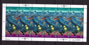 United Nations New York, 1992 Clean Oceans, Fish, MNH sheet