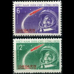 VIET NAM NORTH 1961 - Scott# 160-1 Space Set of 2 NH