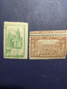 U.S. Pan-Am Expo 1901 Buffalo poster stamps NH, CV $24.95