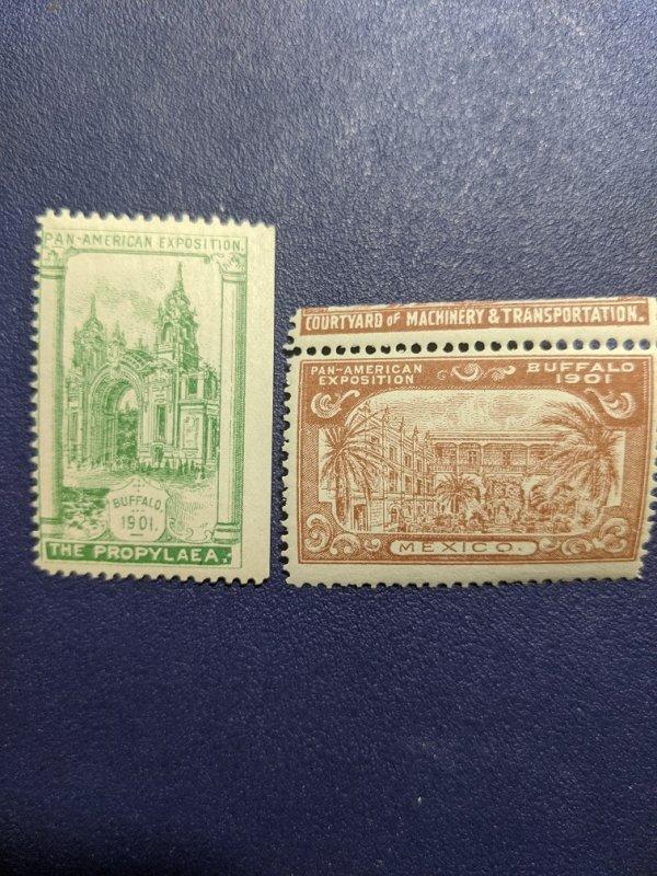 U.S. Pan-Am Expo 1901 Buffalo poster stamps NH, CV $24.95