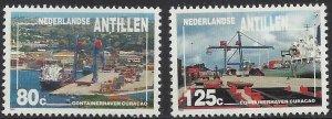 Netherlands Antilles 1992 #675-6 MNH. Port