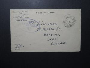 Canada WWII Forces Cover / Netherlands APO / Censor - Z12282