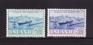 Iceland 338-339 Set MH Ships, View of Reykjavik (A)