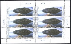 Macedonia Sc# 216 MNH Pane/6 2001 Europa