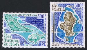 Wallis and Futuna Maps of Islands 2v SG#282-283 SC#C78-C79
