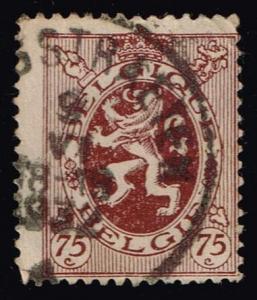 Belgium #211 Heraldic Lion; Used (0.25)