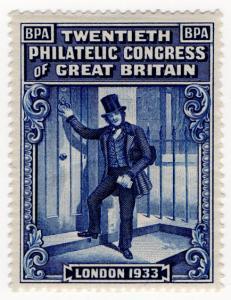 (I.B) Cinderella : 20th Philatelic Congress (London 1933)