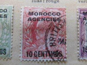 British Morocco 1907-10 10c on 1p fine used stamp A11P30F13