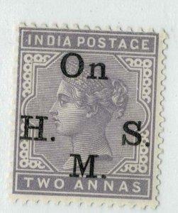 India- 1883-99- SERVICE ON H SM TYPE 09 SG NO 043  HCV