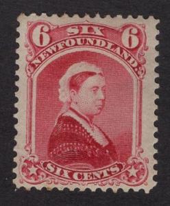 Newfoundland  #35  MH   1868  Queen Victoria  6c   dull rose