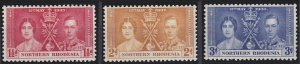 Northern Rhodesia 22-24 MNH (1937)